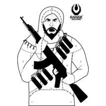 Airsoft lőlap (Terrorista)