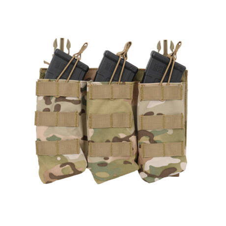 Buckle Up Open Top AK tripla tárzseb Multicam