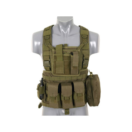 Commando Recon Chest Harness - Olive airsoft mellény