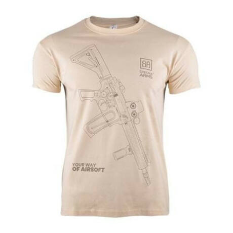 Specna Arms 100% Pamut Póló Your Way of Airsoft Coyote 01 L