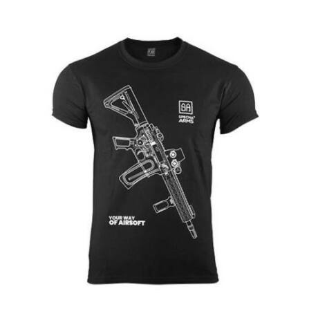 Specna Arms 100% Pamut Póló Your Way of Airsoft Fekete 01 M