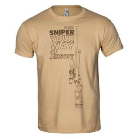 Specna Arms 100% Pamut Póló Your Way of Airsoft Sniper Coyote 02 XL