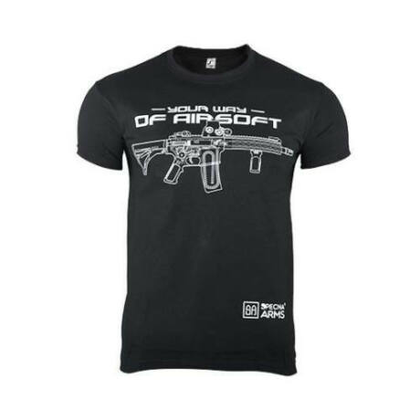 Specna Arms 100% Pamut Póló Your Way of Airsoft Fekete XL