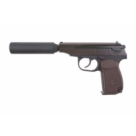 WE Makarov PM Airsoft GBB pisztoly hangtompítóval