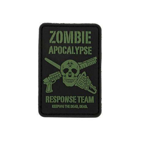 Zombie Apocalypse 3D tépőzáras PVC felvarró