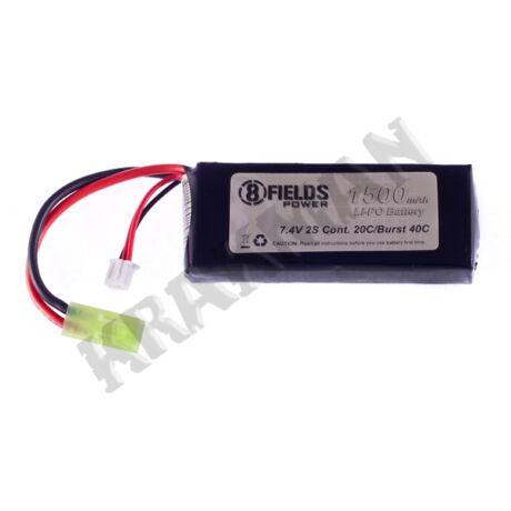 Li-Po Akkumulátor 1500mAh 7,4V 20/40C PEQ