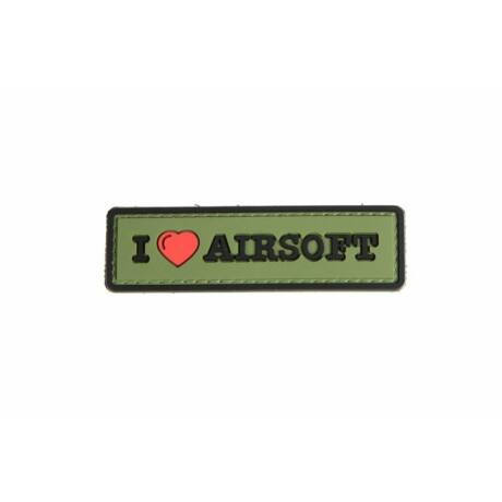 3D tépőzáras airsoft felvarró Star I Love Airsoft