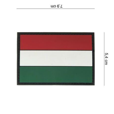 Magyar zászló tépőzáras felvarró