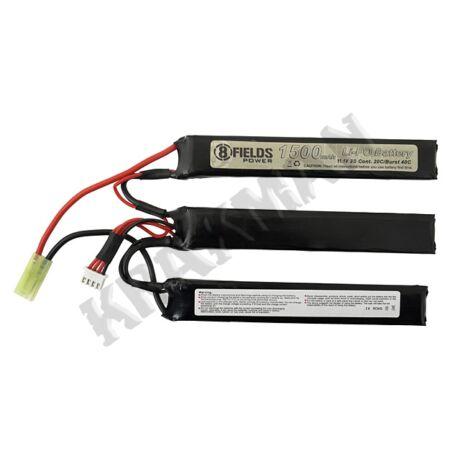 Li-Po Akkumulátor 1500mAh 11,1V 20/40C Osztott