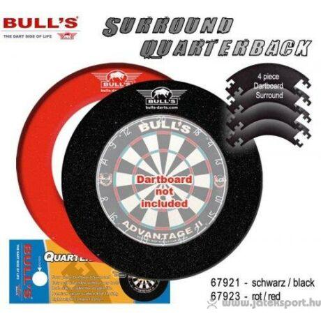 Bull's darts falvédő 4 részes, fekete színben