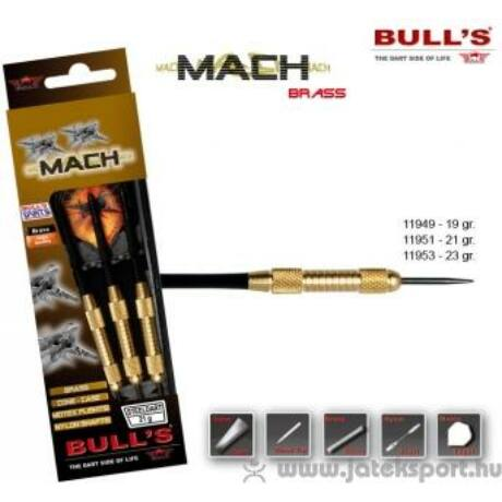Dartszett Bull''''s Mach steel 19g