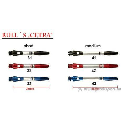 Bull''''s dart szár alu Cetra fekete