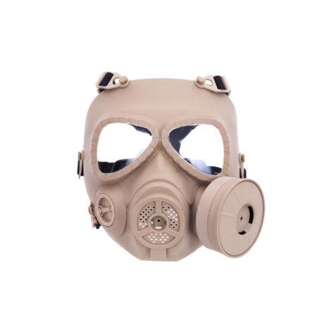 Gázálarc airsoft maszk TAN, ventilált maszk