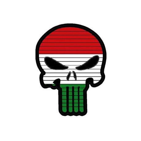 Magyar koponya PVC tépőzáras felvarró
