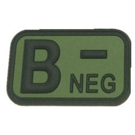 Vércsoport felvarró B negatív