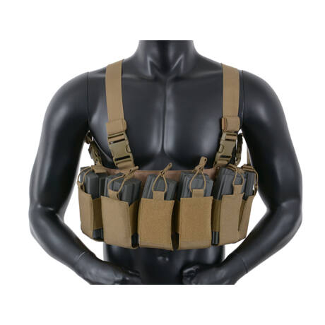 Open top AK/M4 chest rig coyote