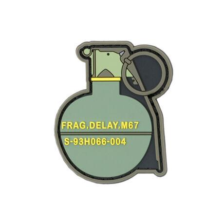 M67 Gránát PVC airsoft tépőzáras felvarró