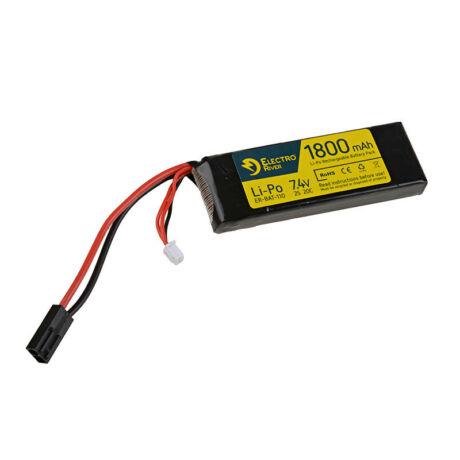 LI-PO 7,4V 1800mAh 20/40C airsoft akku ElectroRiver