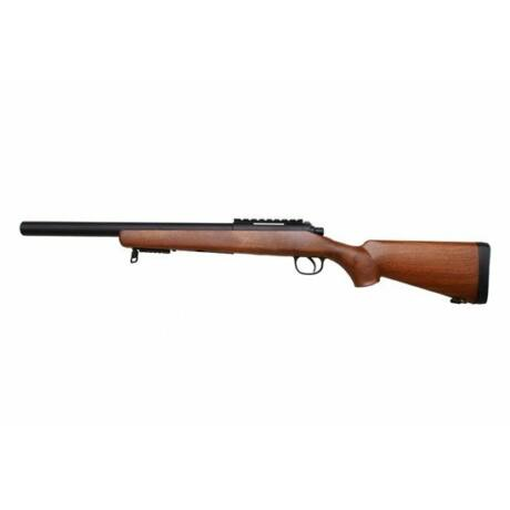 MB-02F Wooden Sniper airsoft puska, springes airsoft