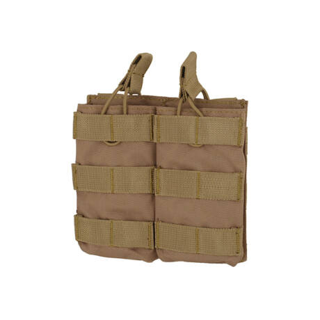 Open Top M4/M16 molle dupla tárzseb 5,56×45 Coyote