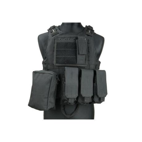 AAV FSBE fekete taktikai mellény
